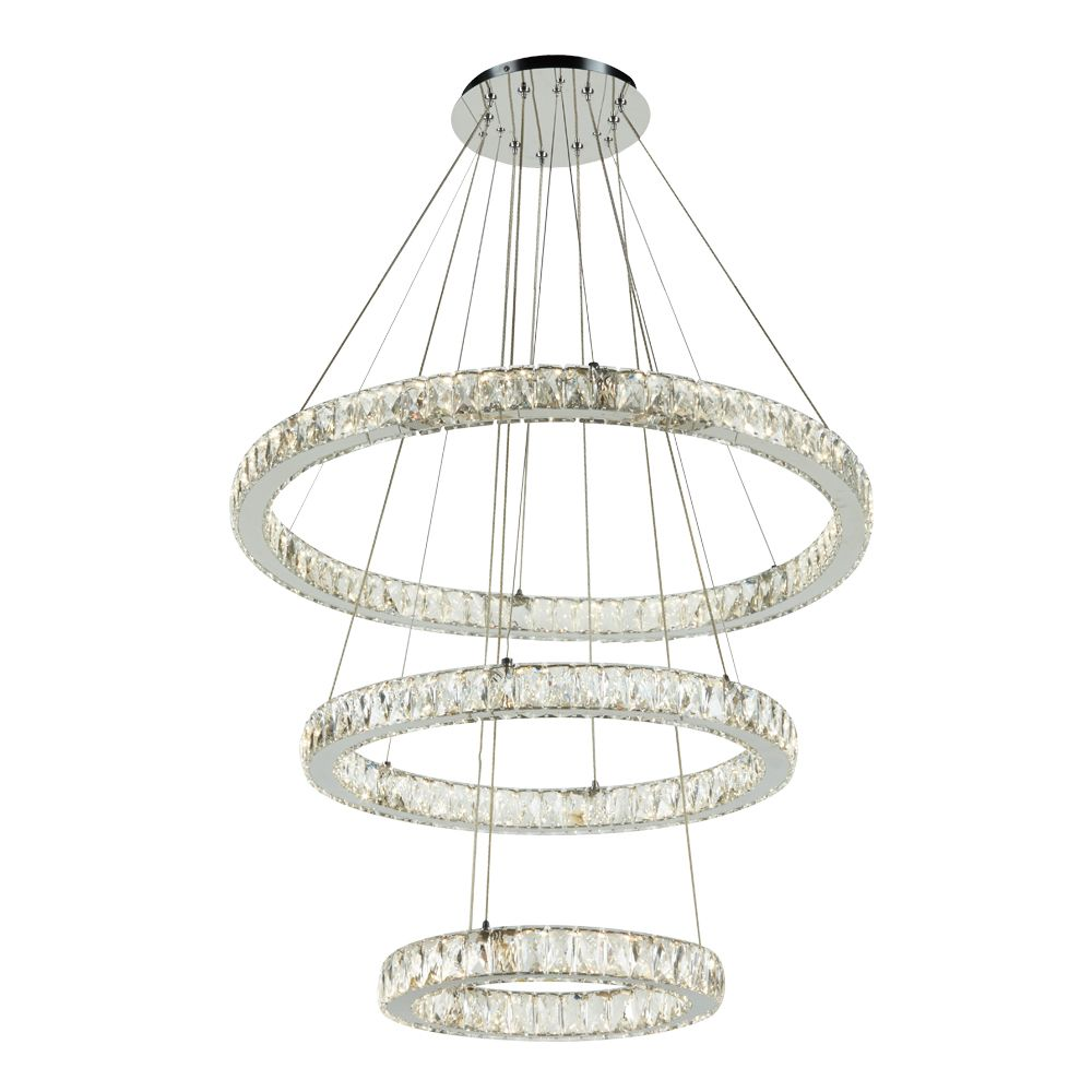 Plc Lighting Led Light 45w Polished Chrome Dimmable Chandeliers Light Diamond Cut Crystal Glass Equis Coll Shop Lights Online